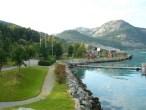 Bobilparkering og bobilplass ved Lysefjorden i Rogaland