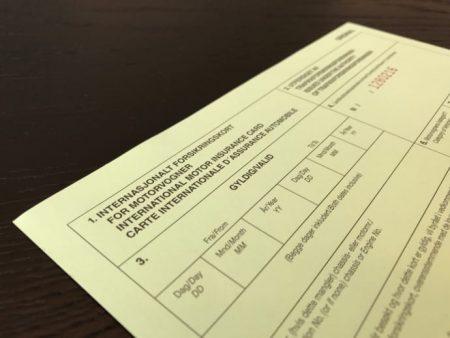 Såkalt Grønt kort er et internasjonalt forsikringsbevis som gjelder for tre måneder av gangen. Det viser at du har ansvarsforsikring på bilen din. (Foto: If)