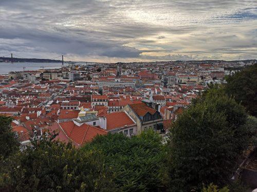Lisboa sett i fra Castelo de S. Jorge. (foto: Campingbil.net)