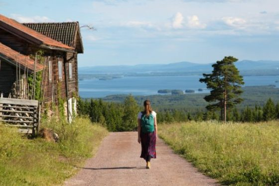 Utsikt til innsjøen Siljan fra Fryksås i Dalarna. Foto- Hanne Marit Tobiassen