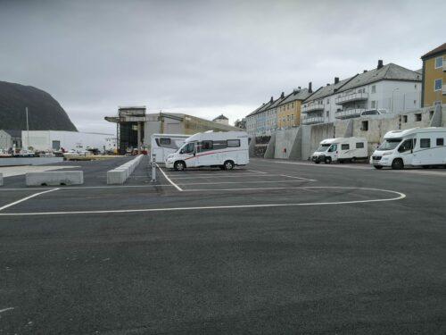 Parkering av bobil i Ålesund