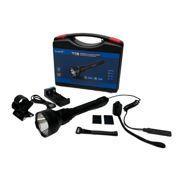 Taktische Taschenlampe mit Koffer & Zubehör