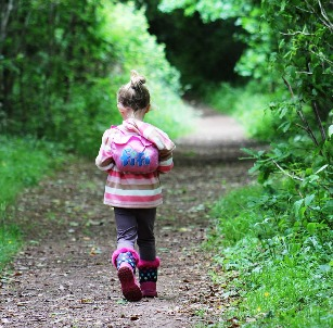 Image of toddler girl hiking boots