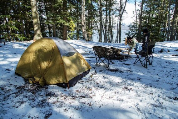 Image of insulating a tent