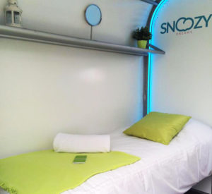 snoozie room at Camp Cardiff