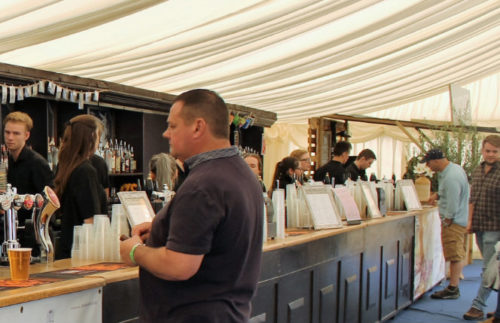 Bar area for all at Camp Cardiff