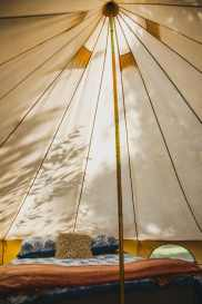 glamping in a big tent