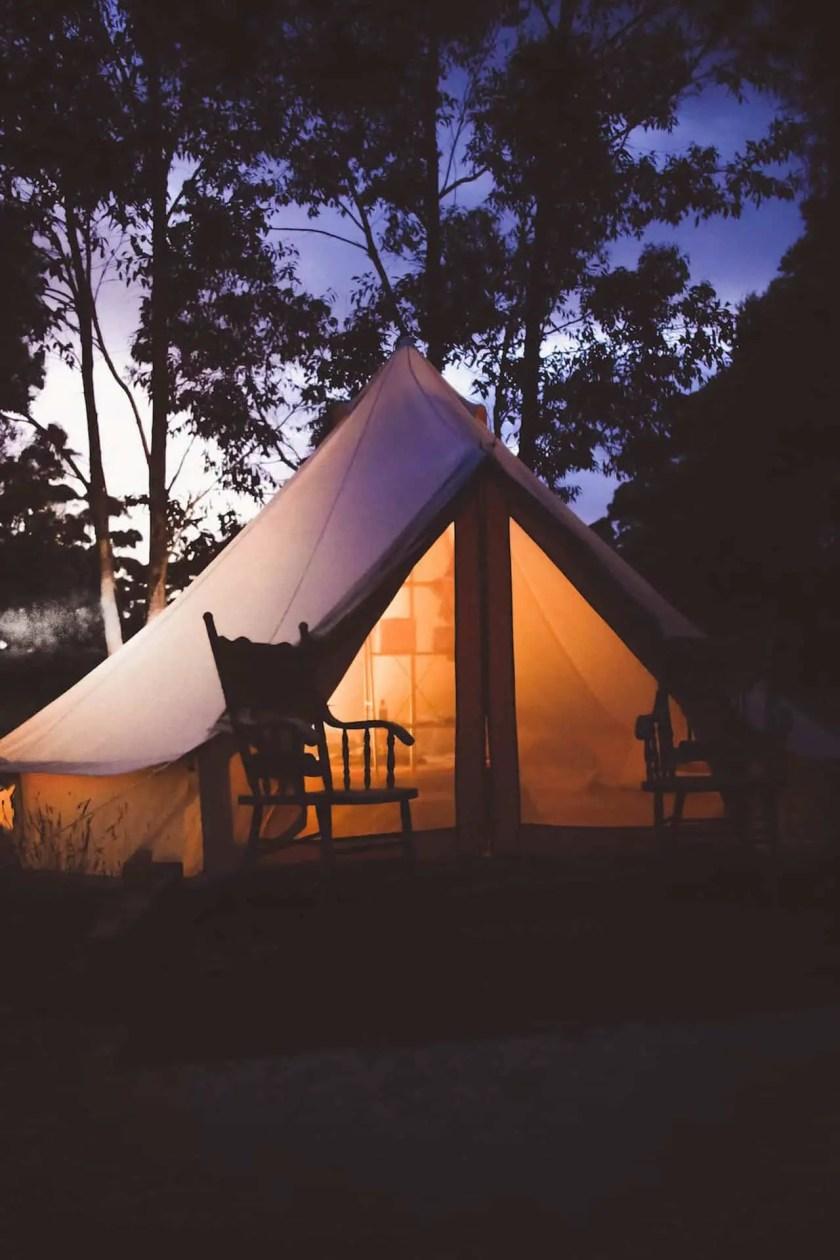 luxury camping glamping