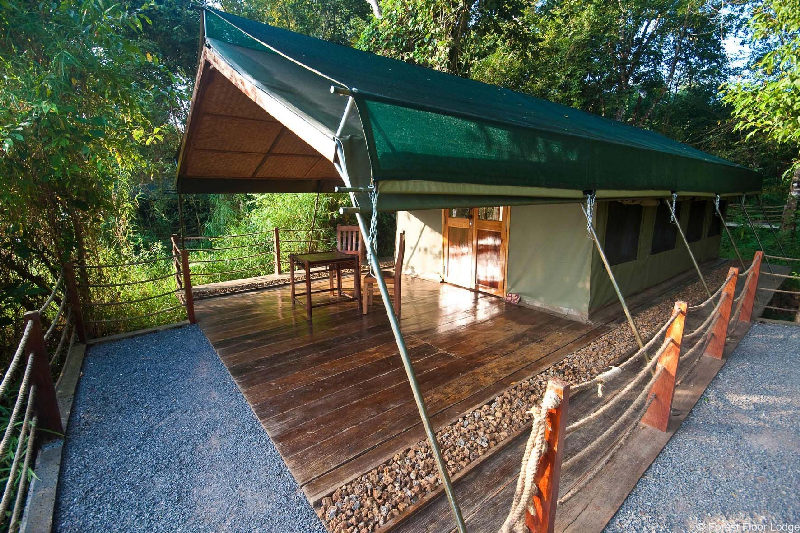 cat tien national park tent
