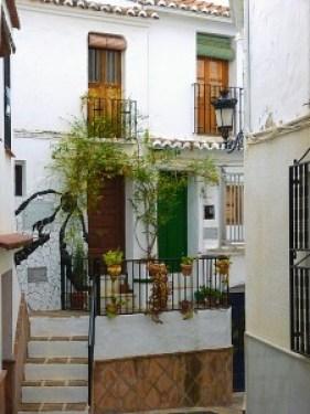 casa rural en Cómpeta- las calles del pueblo