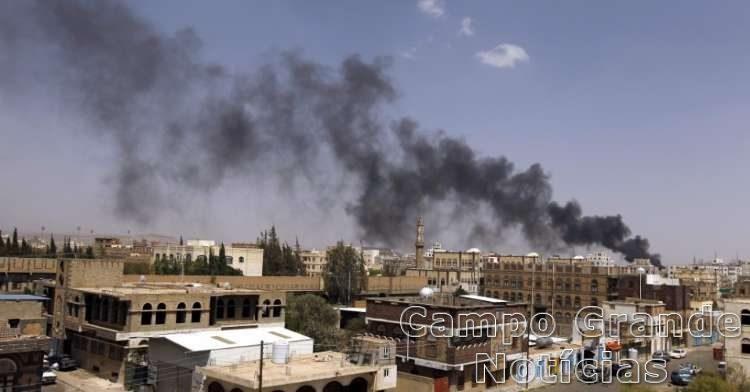 Bombardeio aéreo em Sanaa, capital do Iêmen – Foto: Divulgação