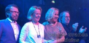 Integrantes da Banda ABBA em janeiro de 2016 – Foto: Facebook/Reprodução