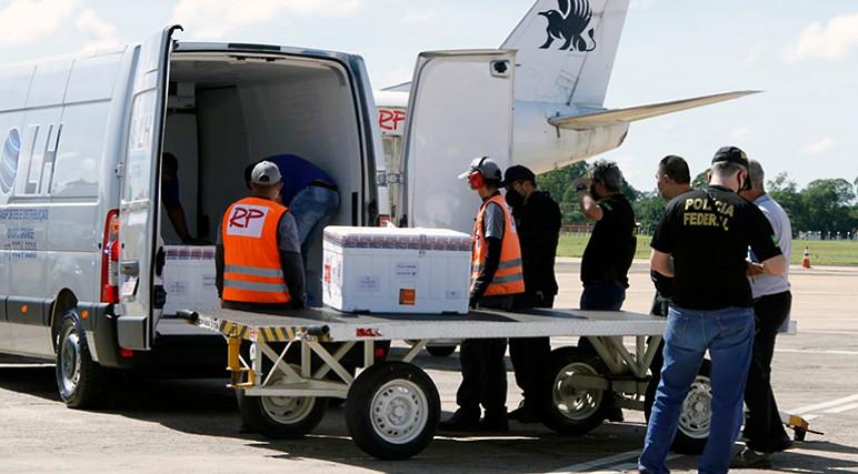Chegada de Vacinas para Covid-19 em Campo Grande MS