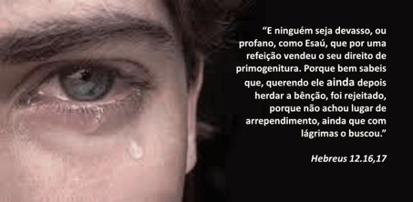 Esau chorando