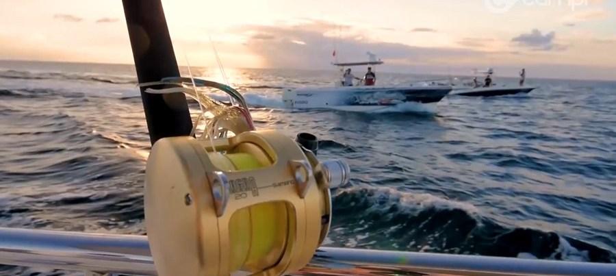 Fishing off a Maritimo boat