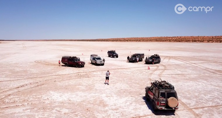 The Eyre Salt Lakes on the way to Poeppel corner