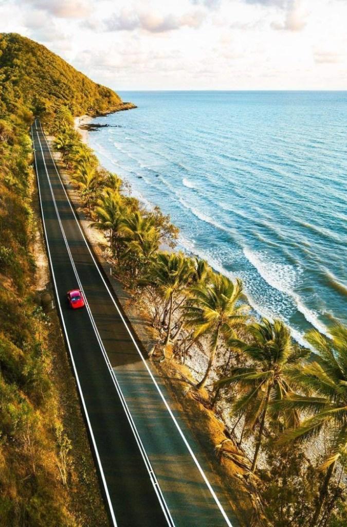 Driving along Port Douglas