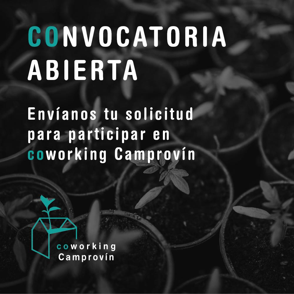 Nueva convocatoria para participar en Coworking Camprovin. Hasta el 28 de marzo
