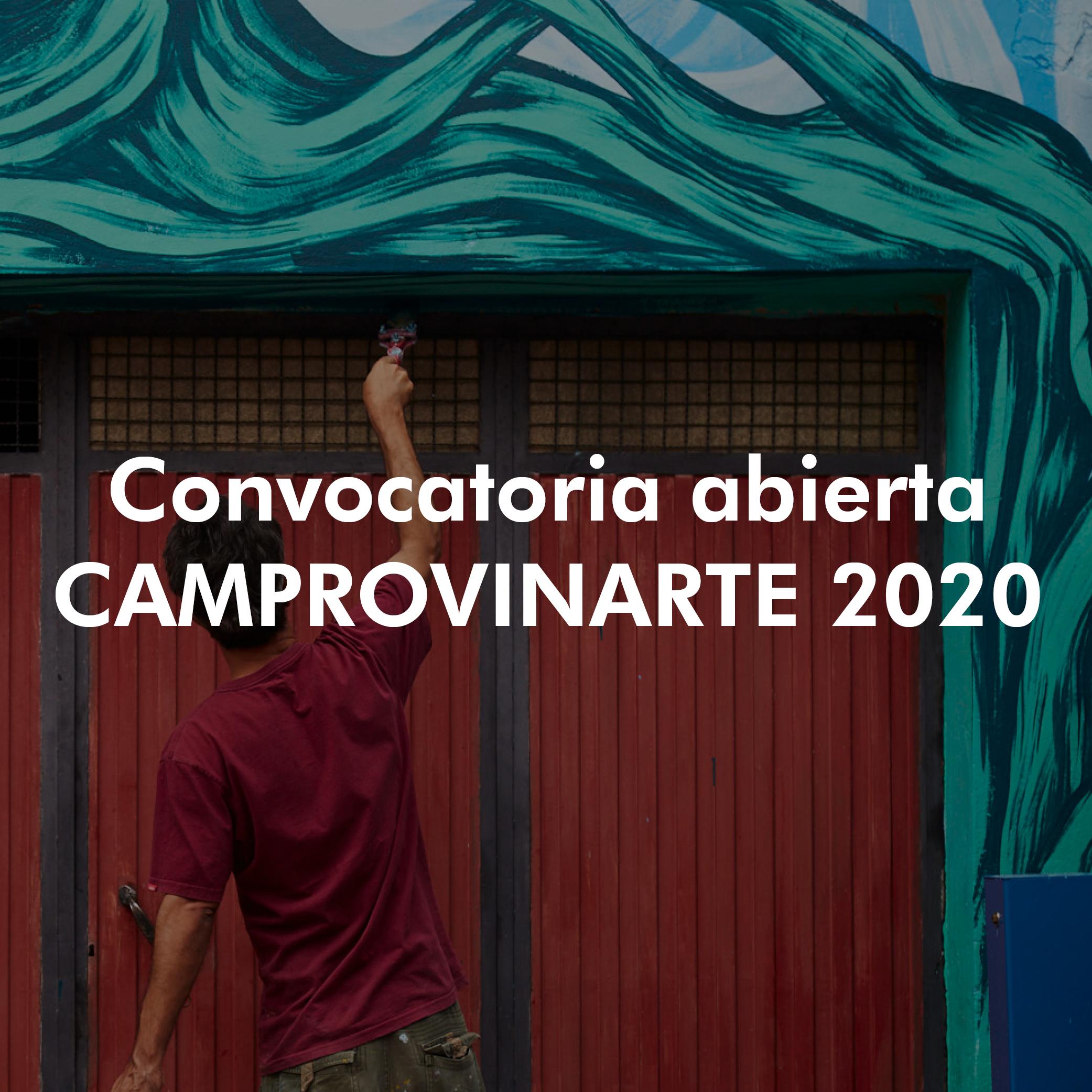 Convocatoria abierta Camprovinarte 2020