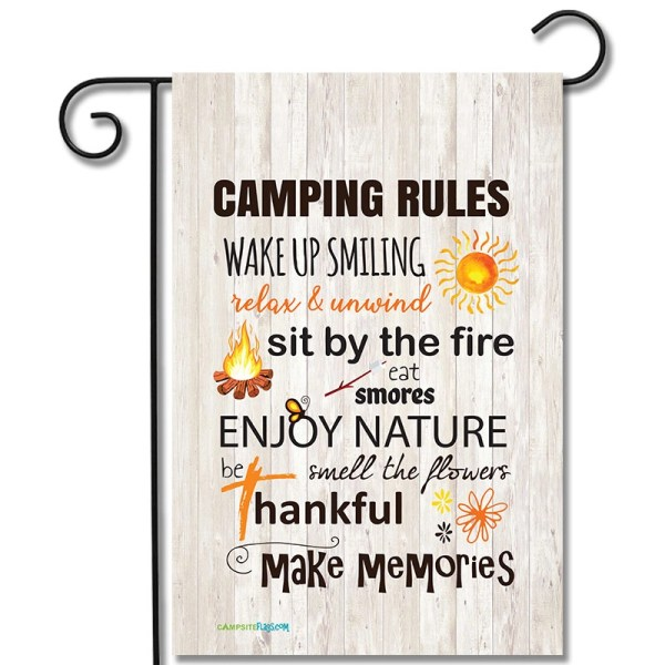 Campsite Flag Camping Rules