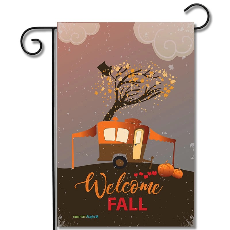 RV Camping Flag Welcome Fall Pop Up