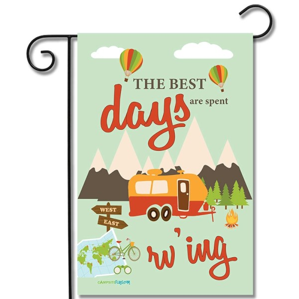 RV Campsite Flag The Best Days Are Spent RV'ing Travel Trailer