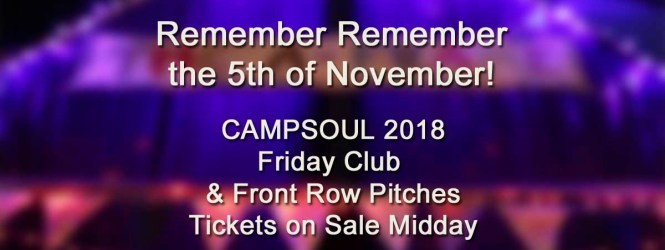 First Release of 2018 Tickets on Sale 5th November