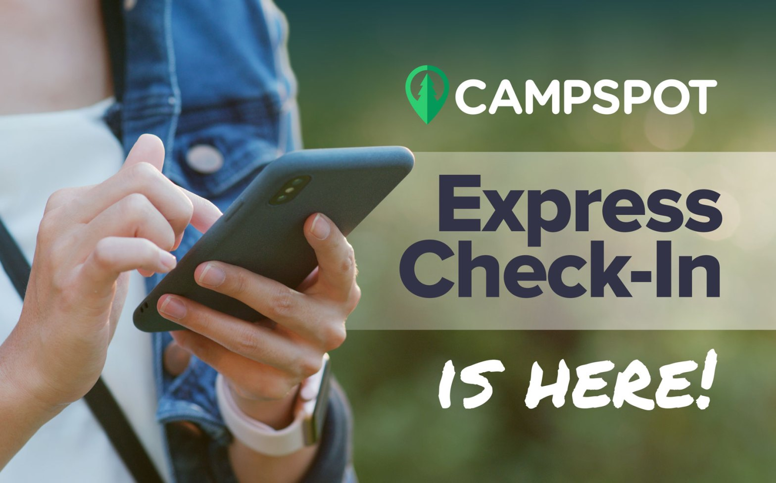 Holding a phone express check in