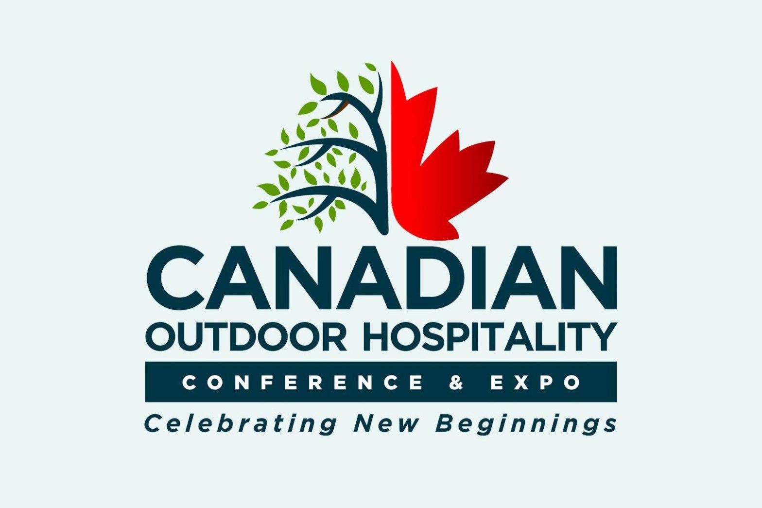 half leaf half tree logo for Canadian outdoor hospitality expo