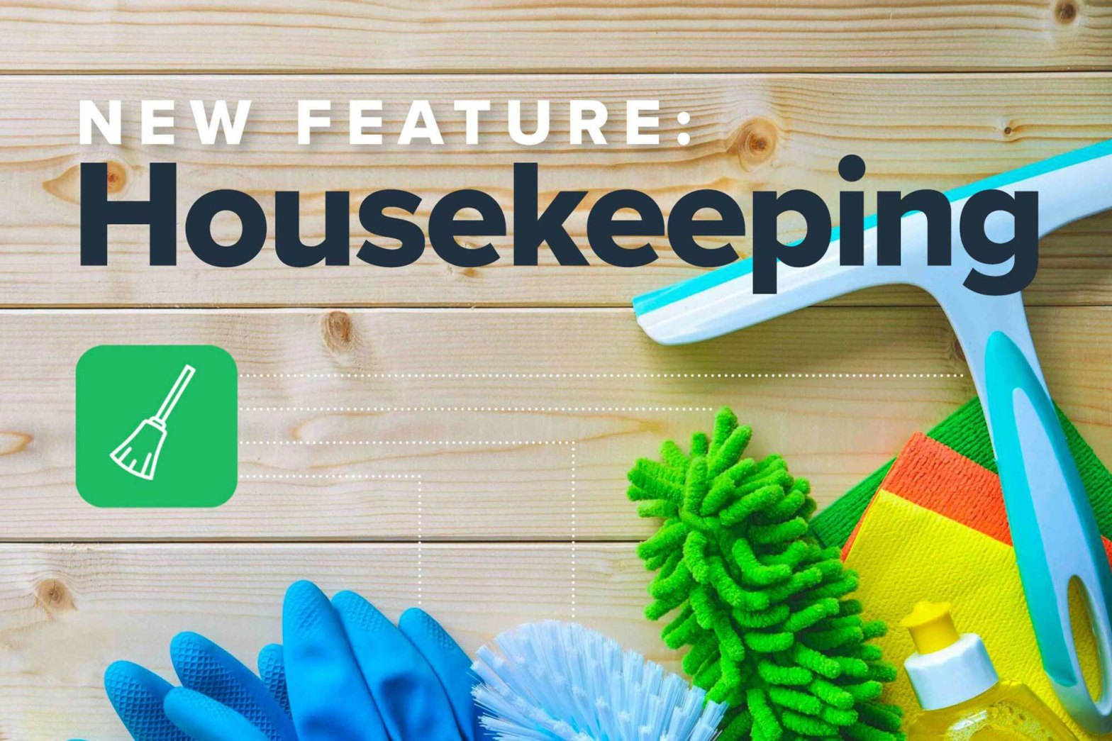 Housekeeping icons for software feature
