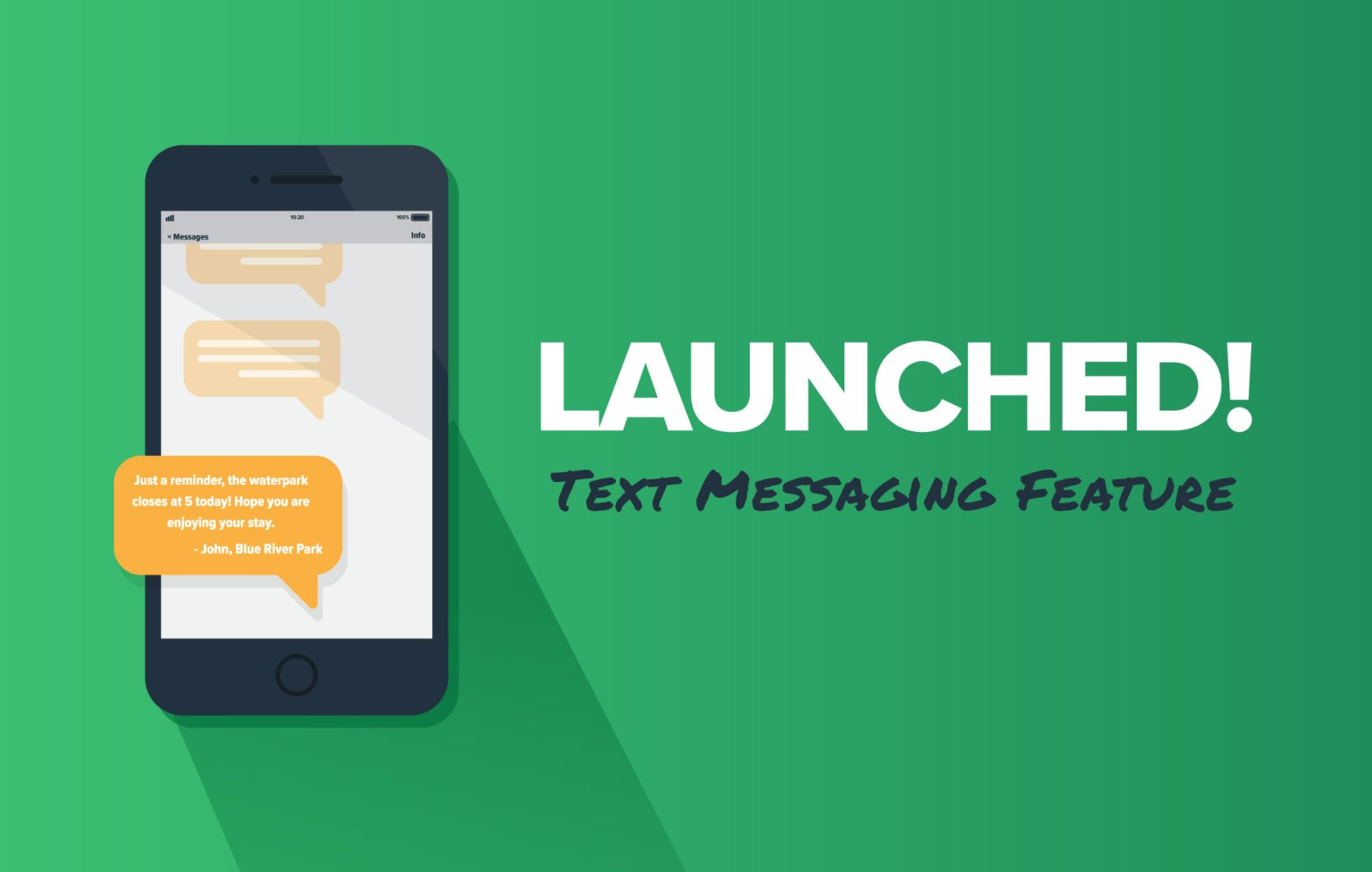 iphone mockup with text messaging feature on green background
