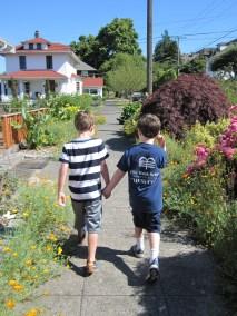 Malachi and Cooper making buddies