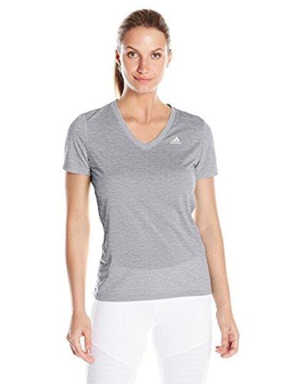 Adidas Ultimate Short Sleeve V-Neck T - Gray