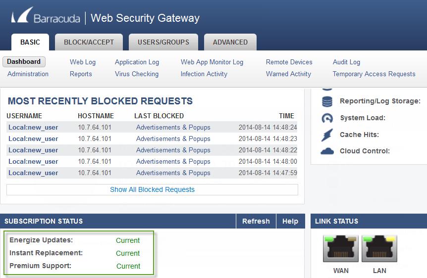 Barracuda Security Gateway