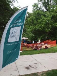Campus archaeology excavation