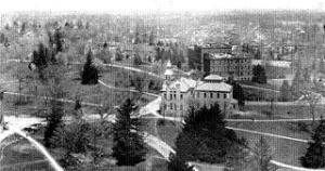 Historic photo of main campus