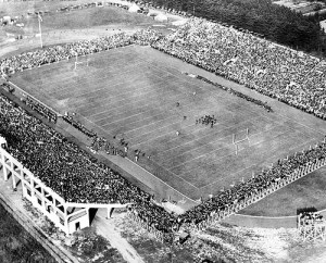 Early Spartan Stadium. Image courtesy of MSU Archives & Historical Collections