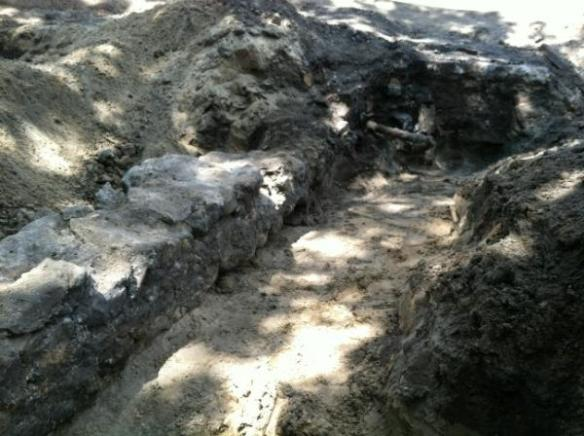 Historic Boiler House foundation found between Morrill and Eustace Cole Halls