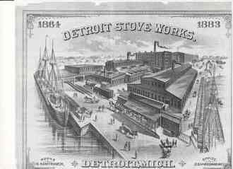 Detroit Stove Works, 1883, via ATDetroit