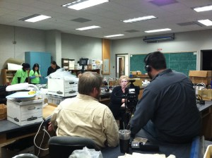 Filming for the AAA video of the Campus Archaeology lab