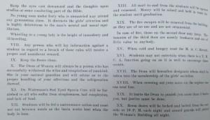 Feronian Society Rules. Courtesy MSU Archives