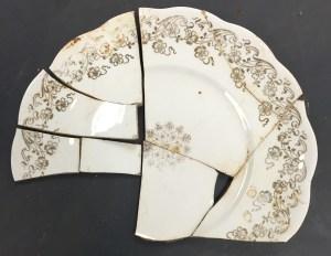 Gold Leafed Homer Laughlin Plate