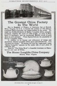 Vintage Homer Laughlin Ad 1912