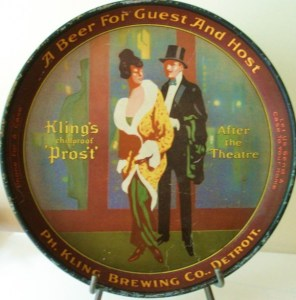 Ph. Kling Brewing Company Beer Serving Tray