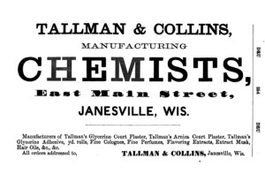 Advertisement in the Wisconsin and Minnesota Gazetteer, Shipper's Guide and Business Directory for 1865-'66