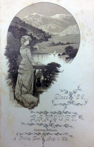 Class of 1886 program banquet cover