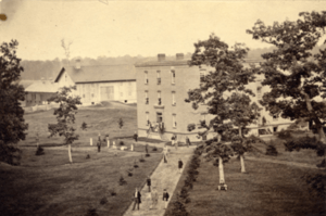 Saint's Rest Boarding Hall circa 1865. Image courtesy of MSU Archives & Historical Collections