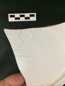 Wedgewood plate base with makers mark and RD stamp.