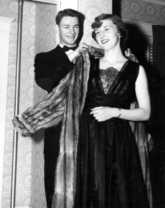 1950 couple at formal dance. Image courtesy of MSU Archives & Historical Collections