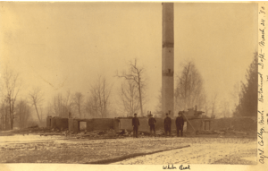 Beal's Botanical Lab after the fire - March 1890. Image courtesy of MSU Archives & Historical Collections.